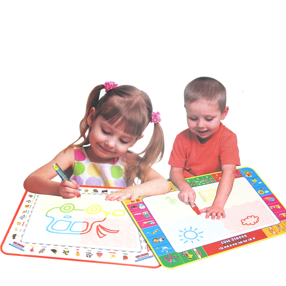 38*29CM Baby Kids Add Water with Magic Pen Doodle Painting Picture Water Drawing Play Mat in Drawing Toys Board Gift | Happy Baby Mama