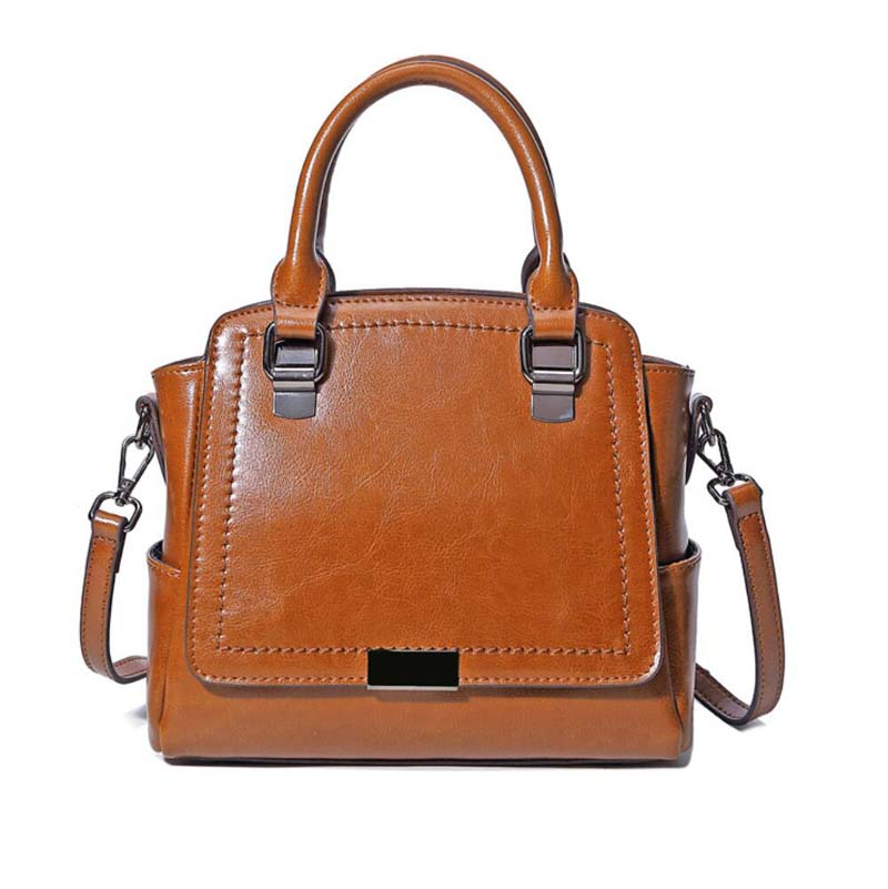 Female genuine leather women Handbags High Quality first layer Leather bags for women Fashion shoulder bags female genuine leather handbags large capacity women messenger bags real leather bags first layer leather shoulder bags