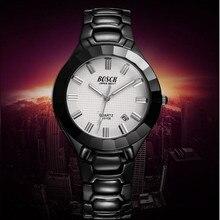BOSCK-3108 n, o novo high-end relógio e relógio de pulso de luxo da marca dos homens, relógio de quartzo, lazer moda relógios à prova d' água