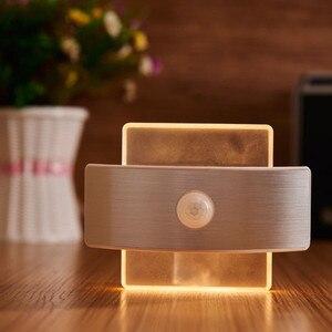 Image 2 - USB Rechargeable Night Light With Motion Sensor 14 LED Sensor Light Wireless Wall Lamp Light For Kids Bedroom Bedside Staircase