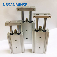 лучшая цена NBSANMINSE CXS 10 15 20 25 32mm  Dual Rod Cylinder Pneumatic Air Cylinder SMC Type  Automation Parts Actuator High Quality