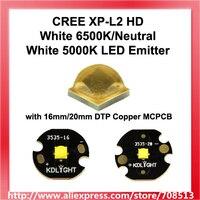 Najnowszy 2017 CREE XP L2 HD biały 6500 K/neutralny biały 5000 K LED emiter z 16mm/20mm DTP miedzi MCPCB 1 szt w Świecące koraliki od Lampy i oświetlenie na