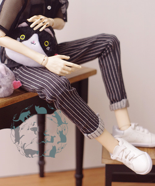 Casual Stripe Pants for Bjd Doll 1/3,SD17 Uncle DOD,SD Doll Clothes CMB91 fashion bjd doll retro black linen pants for bjd 1 4 1 3 sd17 uncle ssdf popo68 doll clothes cmb67