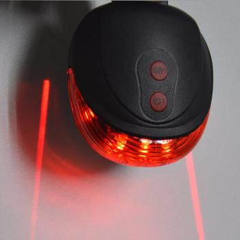5LED 2Laser Cycling Bicycle Bike light 7 Flash Mode Safety Rear Lamp waterproof Laser Tail Warning