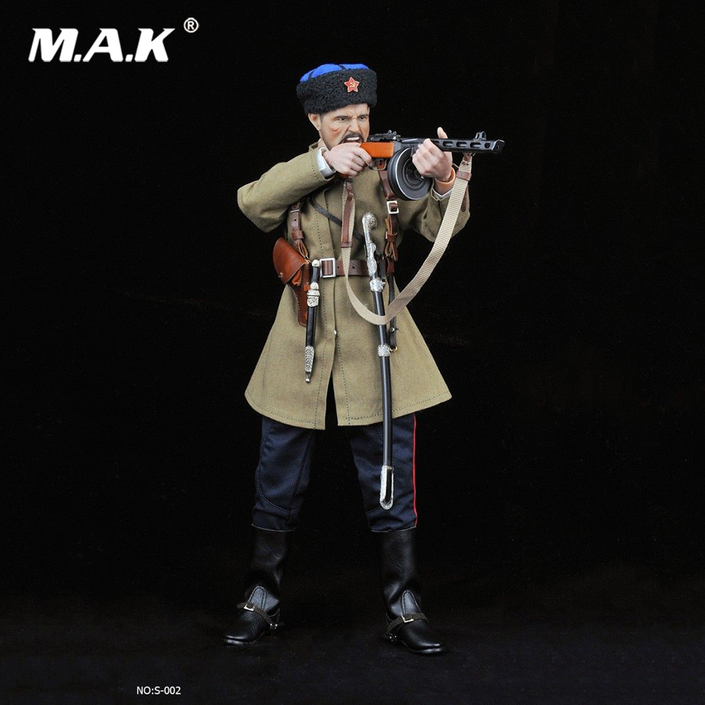 1/6 Échelle Mâle Vêtements Ensemble Soviétique SECONDE GUERRE MONDIALE Cosaque Cavalerie Uniforme Vêtements Arme Modèle pour 12 pouces Man Action Figure Corps