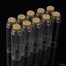 10 шт. 20 мл 22*80 мм Пустые Крошечные маленькие прозрачные пробковые бутылки для сообщений стеклянные флаконы G03 Прямая поставка