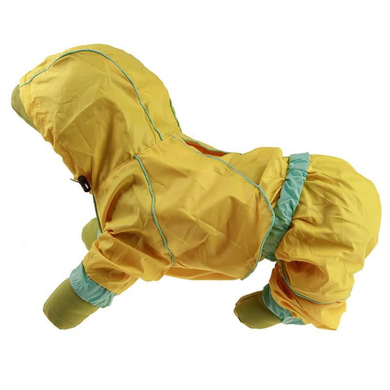 Dog Raincoat Waterproof Hooded Dog Clothes Rain Coat Cloak For Small Puppy Pet Rainy Wit ...