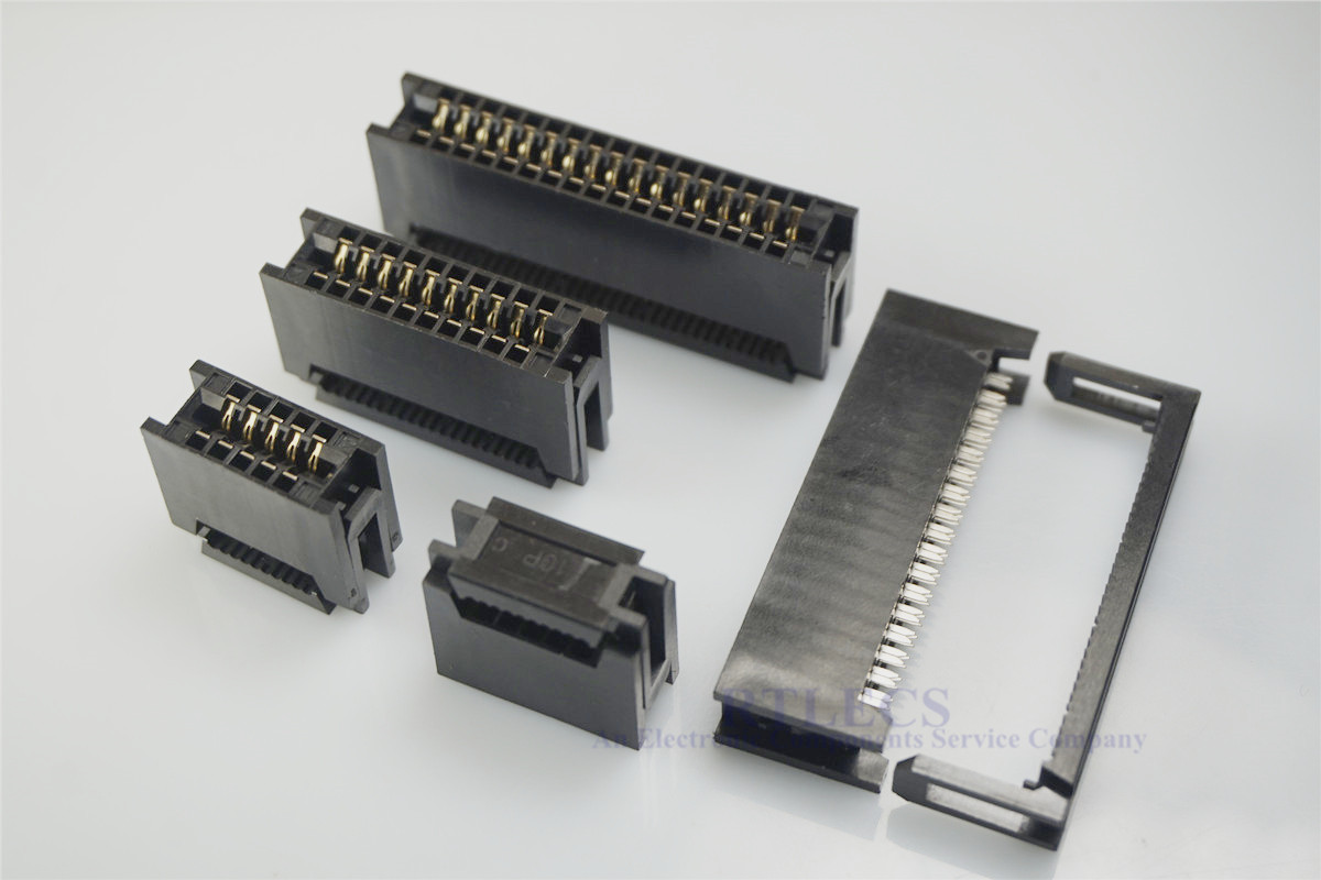 20 Pcs 2.54 Mm Pitch Edge Card Connector IDC Type Slot 10 14 16 20 24 26 30 34 40 50 60 64 Pin PCB Gold Finger Board Socket