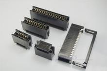 200 Pcs 2.54mm המגרש קצה כרטיס מחבר IDC סוג חריץ 10 14 16 20 24 26 30 34 40 50 60 64 פין PCB זהב אצבע לוח שקע