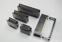 200 Pcs 2,54mm Pitch Rand Karte Stecker IDC Typ Slot 10 14 16 20 24 26 30 34 40 50 60 64 Pin PCB Gold Finger Board Buchse