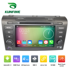 Quad Core 1024*600 Android 5.1 Car DVD GPS Navigation Player Car Stereo for Mazda 3 2007-2009 Radio 3G WIFI Bluetooth