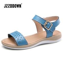 Women's Sandals Shoes Flat Beach Genuine Leather Summer Ladi