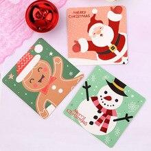 Мини Санта Клаус веселая Рождественская елка бумажные поздравительные открытки пожелания ремесло DIY Детский фестиваль поздравительные открытки подарок Kawaii канцелярские принадлежности