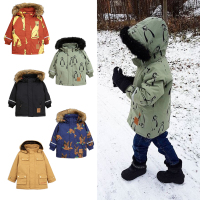 Hot 2018 children winter jackets girls Down baby warm coat down padded jacket American lion pattern Windproof boy down jacket