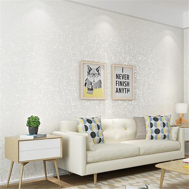 US $34.79 29% OFF|Beibehang Hohe ende moderne minimalistischen plain Oslo  vlies tapete schlafzimmer wohnzimmer TV hintergrund wand papier papel de ...