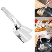 Food Tongs Kitchen Cooking Salad Bread Serving Clamp Stainless Steel BBQ Clip Kitchen BBQ Accessories hot multipurpose kitchen tool bread bbq food stainless steel clip