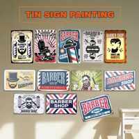 Barber Shop Vintage Tin Sign College Dorm Metal Plate Decoration Plaque Poster Cafe Bar Wall Home Decor
