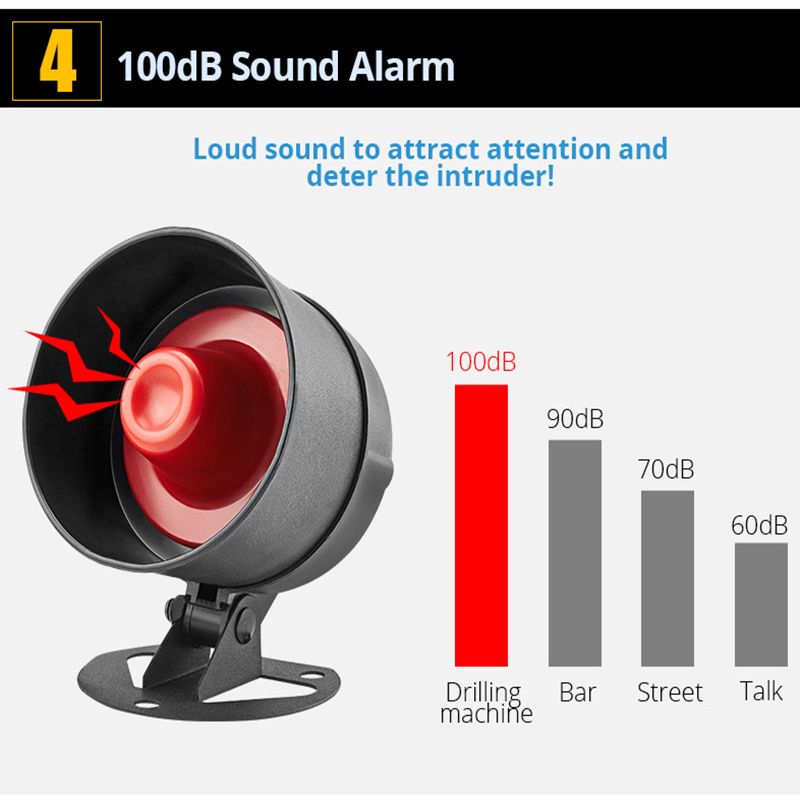Image 5 - KEIRUI Cheap 100dB Wireless Local Speaker Home Alarm Burglar Security System Infrared Motion Detector Remote Control Siren KitAlarm System Kits   -