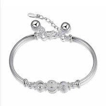 TJP Trendy Lady Lucky Balls Silver Bracelets Anklets New Fashion 925 Sterling For Women Engagement Accessories