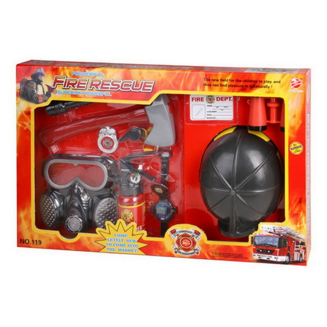 fireman rescue toy fire rescue tools playset firefighters helmet
