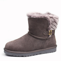 High Quality Free Shipping New Arrival 100 Real Fur Classic Mujer Botas Waterproof Genuine Cowhide Leather