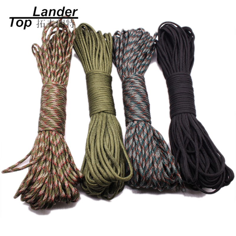 25ft//100ft 4mm 7 Strand Core Cord 550 Paracord Parachute Rope Lanyard Survival