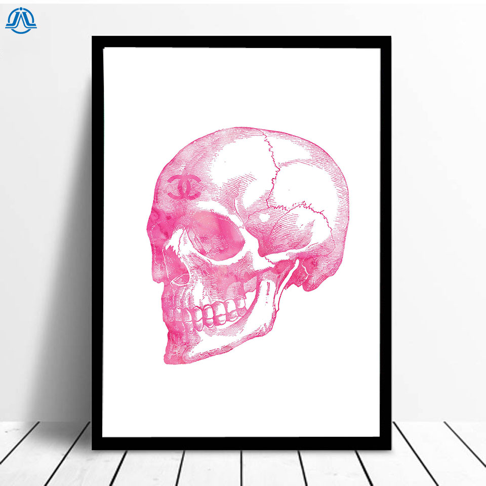 Modern Skull Art Canvas Painting Abstract Posters and Prints Nordic Wall Picture for Living Room Simple