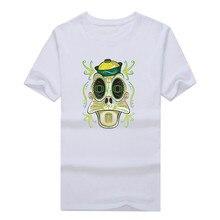 2017 University of Oregon Duck Sugar Skull summer T-Shirt 100% cotton T Shirts Men for fans 1107-3