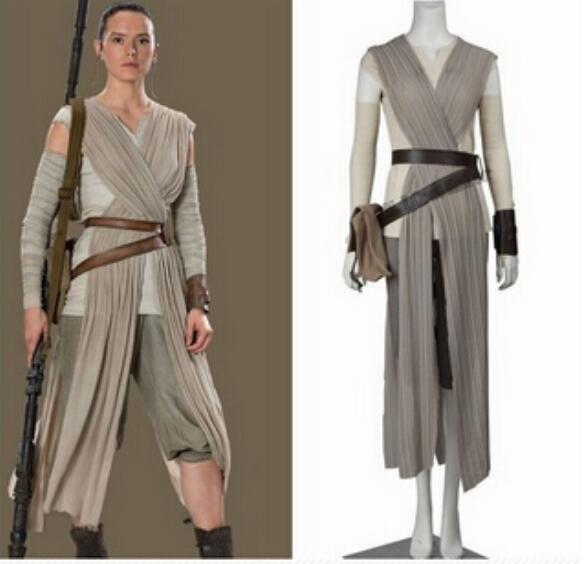 Star Wars Costume Adult The Force Awakens Rey Cosplay Carnival Party Costume Star Wars Rey Costume Custom Made