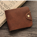 High Quality Men Genuine Leather Wallet Short Trifold Hasp Organzier Purse Vintage Buckle Card Holder Carteira Masculina 2802