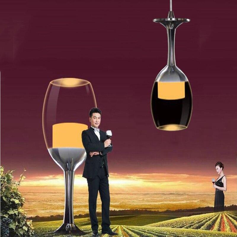 ФОТО Cheers! ! ! Wine glass chandeliers, solid acrylic, 1 heads sales, AC90-265V 5W