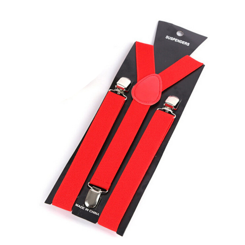 Fashion New Mens Womens Unisex Clip On Suspenders Elastic