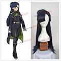 New Arrival Seraph of the end Yukimi Shigure Wig Long Straight Navy dark Blue Cosplay Wig Cap