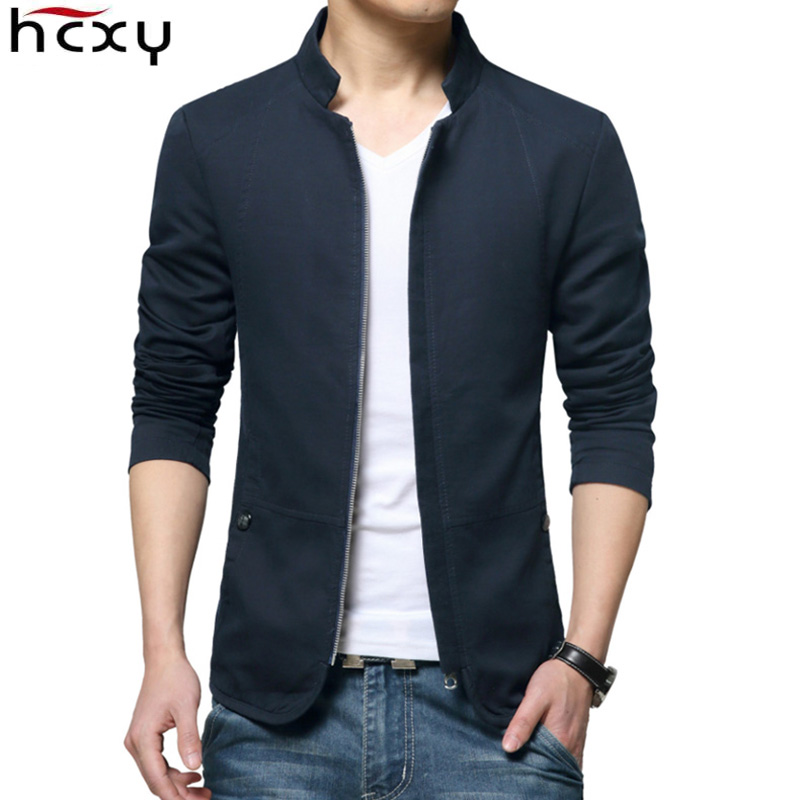 HCXY 2019 Brand New Autumn Men Casual Business Jacket Coat Men's Fashion Washed 100% Pure Cotton Jackets Male Coats Size M-5XL