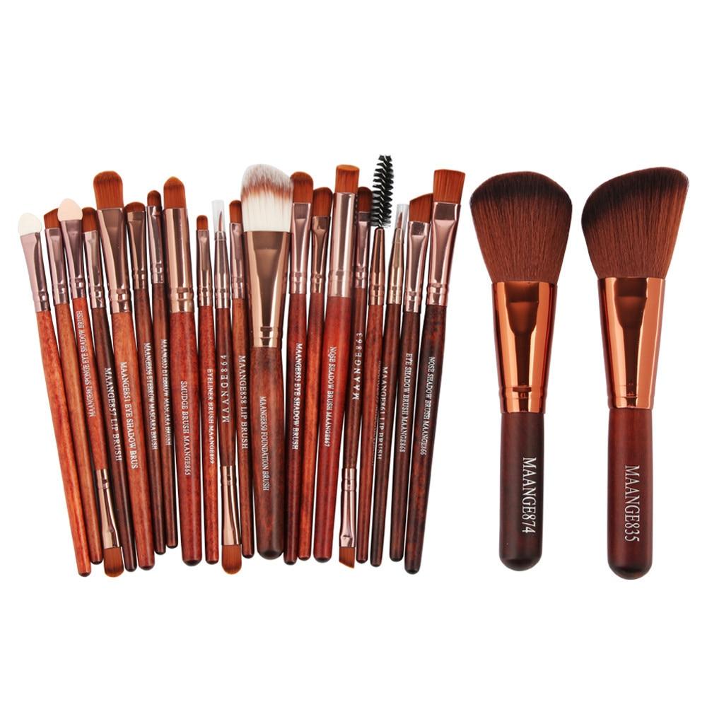 Professional 22pcs Cosmetic Makeup Brushes Set Blusher Eyeshadow Powder Foundation Eyebrow Lip Make up Brush tool 22pcs black makeup brushes set eyeshadow