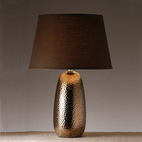 Chinese Style Coffee Shell Ceramic Table Lamp Creative Room Bedroom Hotel Living Room Bedside Table Lamp