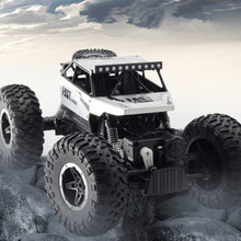 The New Alloy 4WD RC Cars drive Off-road Climbing CarBig Foot Remote Control Car Children Electric Toy Boy Racing  Model Gift 2 4g remote control climbing model car kids rtr 1 16 remote control military truck 4 wheels drive off road rc model boy gift toy