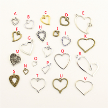 20Pcs Wholesale Bulk Jewelry Findings Components Hollow Heart Diy Accessories Female HK124