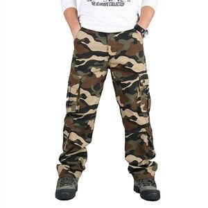 Image 5 - Autumn Winter Military Camo Pants Men Loose Cotton Army Trousers Casual Hip Hop Cargo Camouflage Pants Men Pantalon Camuflaje