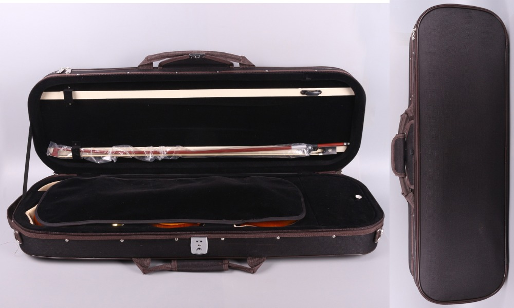Yinfente 4/4 Violin Case Full Size professional Sturdy Oblong Wooden Hard Case for Good Violin with Hygrometer, Lock yinfente 4 4 violin case box black mixed carbon fiber oblong case strong light 2 1kg music sheet bag full size