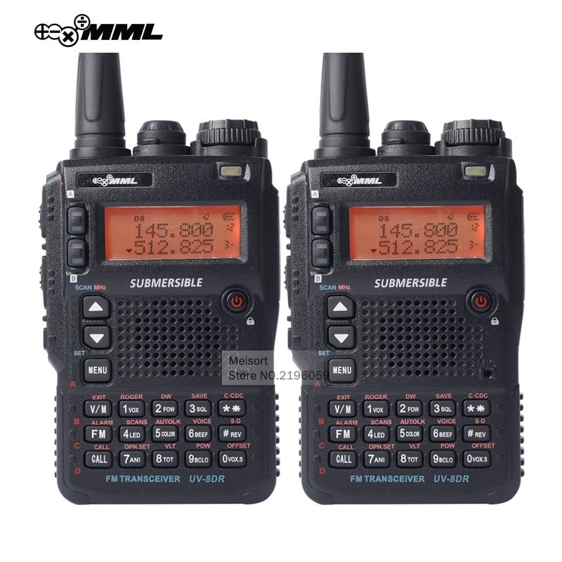 2pcs MML UV 8DR Two Way Radio Triple Band 136 174MHz 240 260MHz 400 520MHz Long