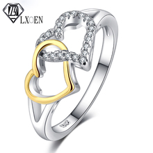 2019 Classic Heart Engagement Ring for Women Lover Best Gift with Silver  Color Hallow Zirconia Rings for Wedding Jewelry cuteeco hight quality silver pan ring love heart ring original wedding jewelry gift for lover engagement accessories