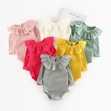 Зимние для маленьких девочек комбинезон осень принцесса Одежда для новорожденных Для От 0 до 2 лет с длинными рукавами для мальчиков и девочек комбинезон для детей Детские костюмы