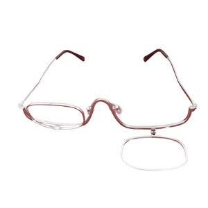 dad8144df8c MLLSE Metal frame Eyeglasses up Makeup Reading Glasses 1.0