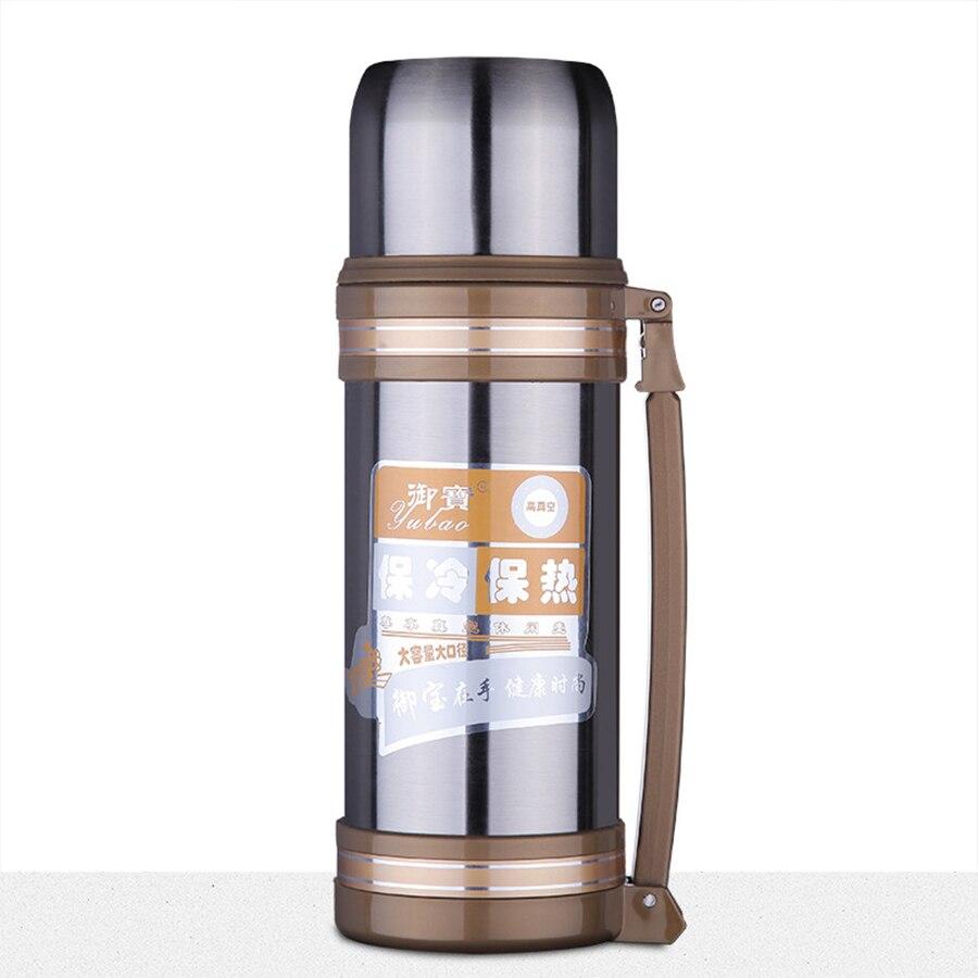 Bouilloire Isotherme intérieur biubiutua 1.2l thermos tasse bouilloire de voyage en acier