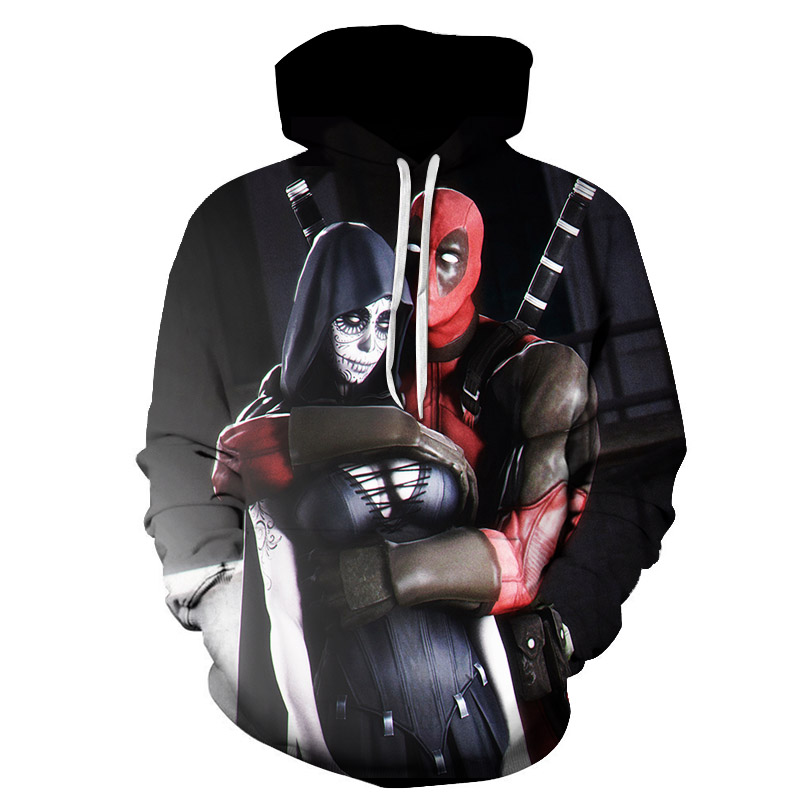 Deadpool 2 3D Print Avengers 3 Superhero Movie Iron Man Infinite WarMovie Super Hero Streetwear Loose Hoodie 2019 New Clothes