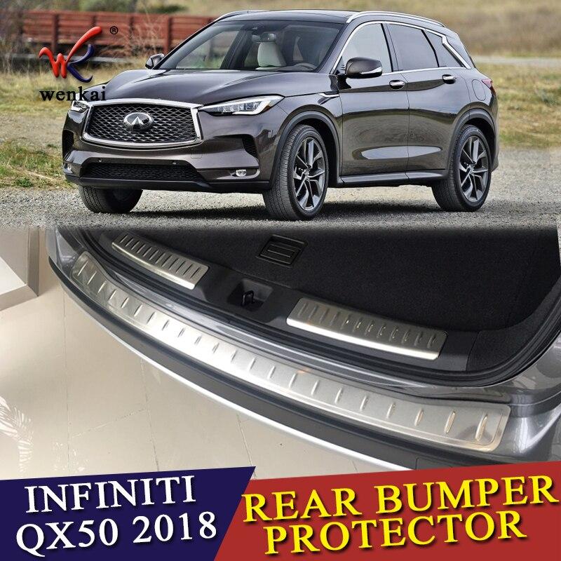 """35/""""x3/"""" White Rear Bumper Rubber Guard Cover Sill Plate Protector For Hyundai Kia"""