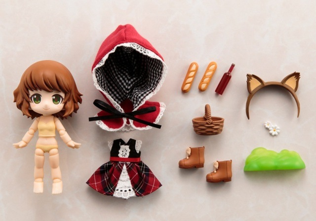 Nendoroid Cute Little Red Riding Hood Variant Mini Action Figure Real Clothes Ver. PVC figure Toy Brinquedos Anime 10CM 5