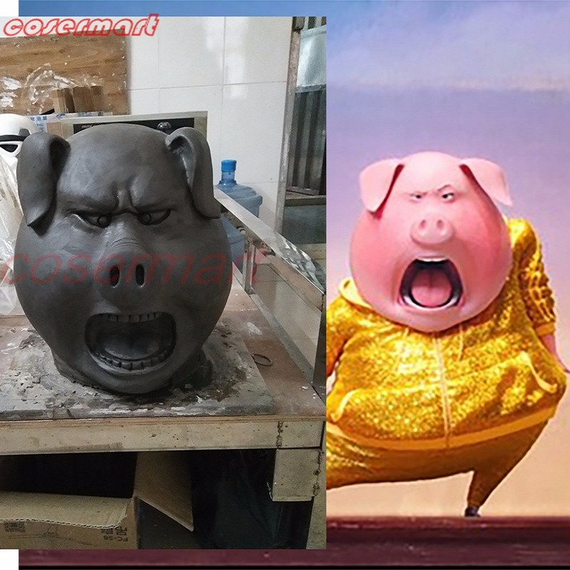 2016 Movie Sing Cosplay Porcupine Ash Latex  Mask Pig  Animal Mask Halloween Party (4)