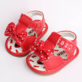 Cute Floral Bow Baby Girls Shoes First Walker Baby Sandals Anti-Slip Infant Toddler Shoes Rubber Sole Summer Comfortable Shoes